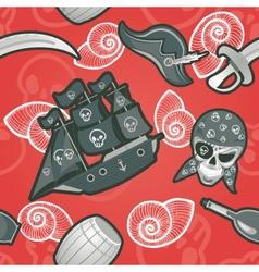 Pirate seamless texture vector