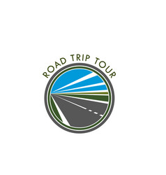 Road icon for trip tour or travel journey vector