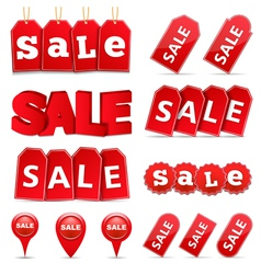 Sale Tags and Banners vector image vector image