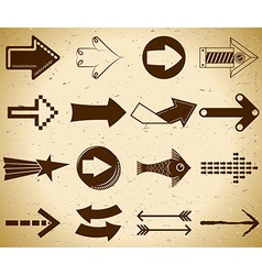 Set of vintage arrows vector image