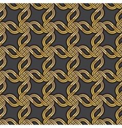 Shiny gold Celtic seamless pattern vector image