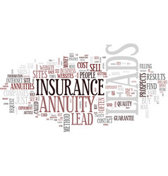 The awful truth about annuity and insurance leads vector