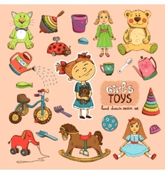 toys for girl vector image vector image