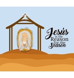 Jesus is the reason for the season design vector
