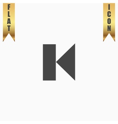 Back track arrow media player control button vector