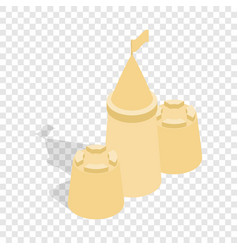 Sandcastle isometric icon vector