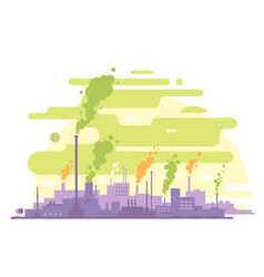 Air pollution from industrial plants vector
