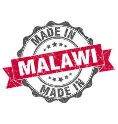 Made in malawi round seal vector