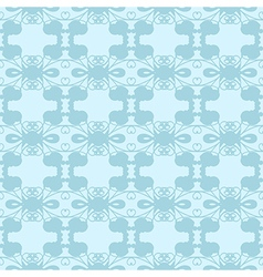 Neutral floral ornament cool blue vector