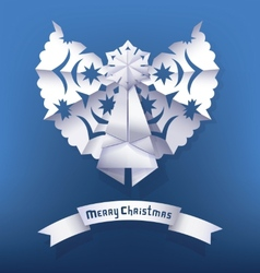 Paper angel christmas greeting vector