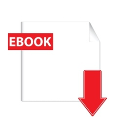 E-book download icon vector