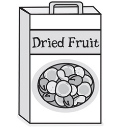 Dried fruit vector