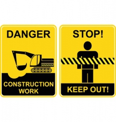 construction work keep out signs vector image