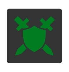 Guard icon from commerce buttons overcolor set vector