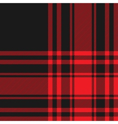 Menzies tartan black red kilt fabric texture vector