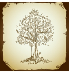 Background with tree vector