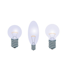 Set of light bulbs vector
