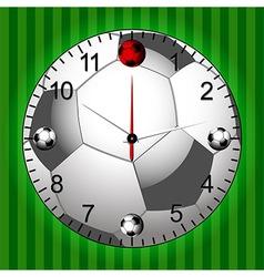 Football Soccer Clock vector image