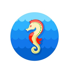 Sea horse icon summer vacation vector