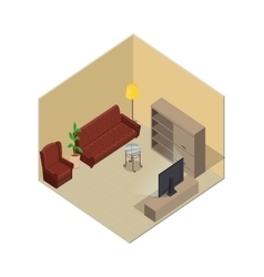 Apartment in Isometric Projection vector image vector image