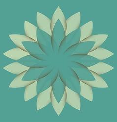 Beautiful Lotus Flower Color Wheel Mandala vector image