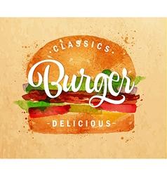 Burger kraft vector image vector image