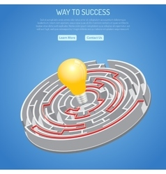 Business success and searching idea concept vector