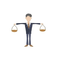 Businessman scale icon cartoon style vector image vector image