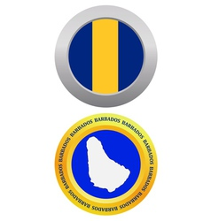button as a symbol BARBADOS vector image