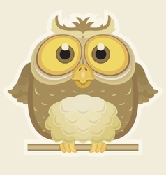 Cartoon Owl vector image vector image