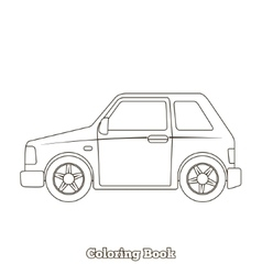 Coloring book car educational game vector image