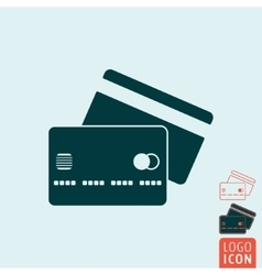 Credit card icon isolated vector image vector image