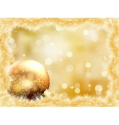 Gold christmas card with copy sace EPS 8 vector image vector image