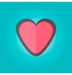 heart emblem in flat style vector image