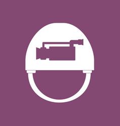 Icon helmet with video cam vector