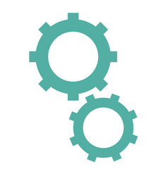 Isolated two gears vector
