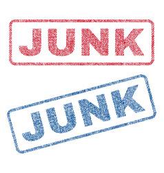 Junk textile stamps vector