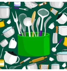 Kitchenware icons setSteel kitchen vector image
