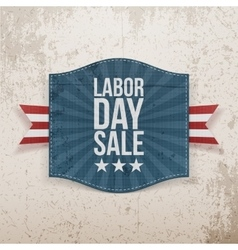 Labor day sale greeting paper tag vector