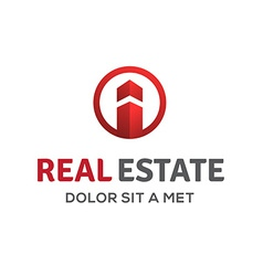 Letter i real estate sign logo icon design vector
