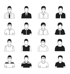 man icons set vector image vector image