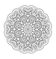Mandala doodle drawing coloring vector