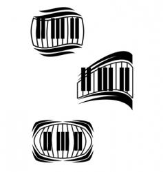piano symbols vector image