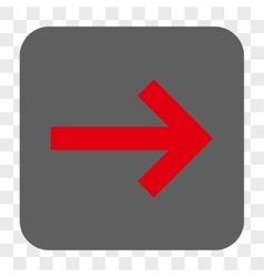 Right arrow rounded square button vector