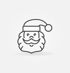 santa claus outline icon santa face vector image