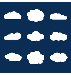 Set of clouds in the blue sky vector image vector image