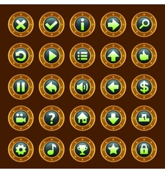 Steam punk buttons vector
