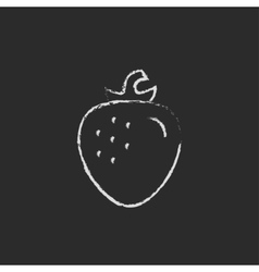 Strawberry icon drawn in chalk vector image