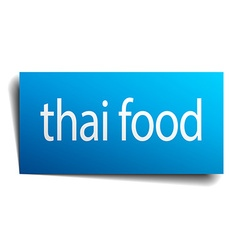 Thai food blue paper sign isolated on white vector