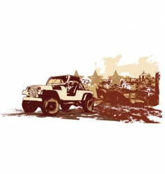 vintage military vehicle vector image